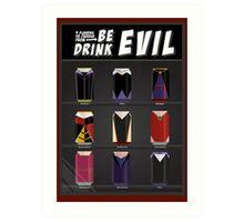 Evil Soda Cans - Female Villains Edition Art Print