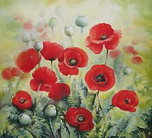 Poppies by Elena Oleniuc