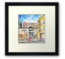 By The Old Cathedral In Cartagena 01 Framed Print