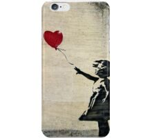 Banksy's Girl with a Red Balloon III iPhone Case/Skin