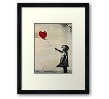 Banksy's Girl with a Red Balloon III Framed Print