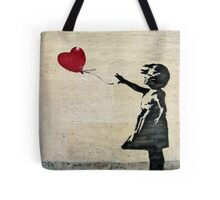 Banksy's Girl with a Red Balloon III Tote Bag