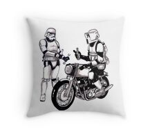 Stormtroopers with Norton Throw Pillow