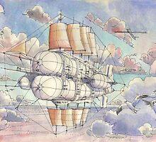 Il Veliero Volante by Luca Massone  disegni