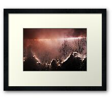 Edinburgh Festival Fireworks Rolling Down Edinburgh Castle Framed Print