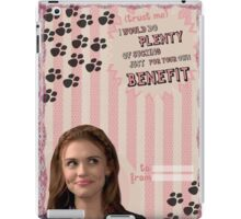 My Teenwolfed Valentine [I Would Do Plenty of Sucking Just For Your Benefit] iPad Case/Skin