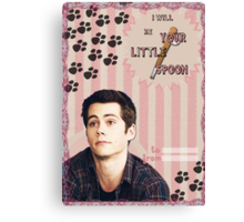 My Teenwolfed Valentine[I'll be Your Little Spoon] Canvas Print