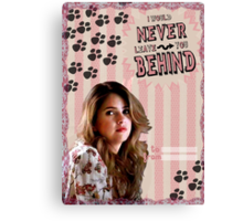 My Teenwolfed Valentine[I'd Never Leave You Behind] Canvas Print