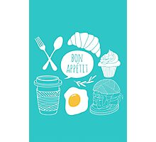 Breakfast pattern Photographic Print