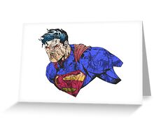 The Man of Steel Character Collage Greeting Card