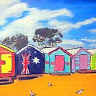 Brighton Bathing Boxes by gillsart