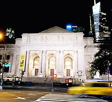 New York City Library, night by Peta Santoro