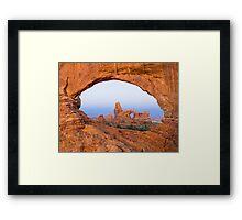 Turret Arch through the North Window Arch Framed Print