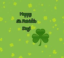 Happy Saint Patrick's Day, Clovers - Green by sitnica