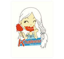 Khaleesi Heart Cream! Art Print