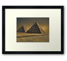 The Great Pyramid of Giza Cairo Egypt   Framed Print