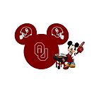 Oklahoma Sooners Mickey Mouse by sweetsisters