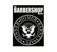 Homer´s Barbershop Quartet Art Print