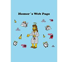 Homer´s Web Page Photographic Print