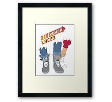 Power Laces! Framed Print