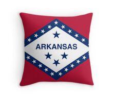 Arkansas State Flag Throw Pillow