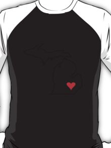 Michigan Love - Red T-Shirt