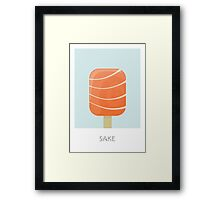 Sake Flavored Creamsicle Framed Print