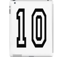 TEAM SPORTS NUMBER, 10, TEN, TENTH, Competition iPad Case/Skin