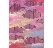 Pink stripy clouds ruled the evening skies. Photographic Print