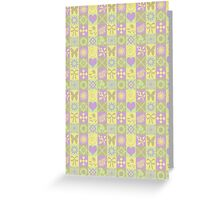 Cute Butterflies, Flowers, Hearts and Swirls Greeting Card