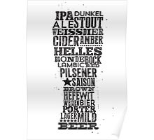 All Answers are in your beer glass Poster