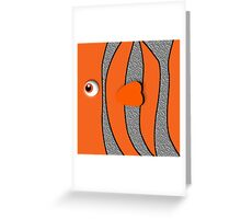 Orange ornamental fish cartoons Greeting Card