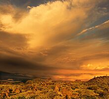 Sunrise stormfront, Tibooburra by Kevin McGennan