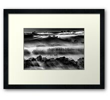 Mist on the Everton Hills Framed Print