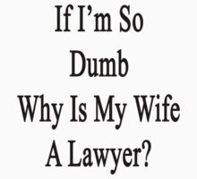 If I'm So Dumb Why Is My Wife A Lawyer  by supernova23
