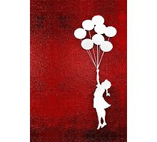 The Balloons Girls Photographic Print
