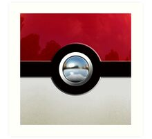 Red Pokeball Art Print