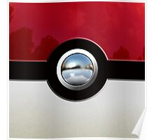 Red Pokeball Poster