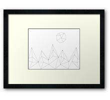Geometric Mountains #2 Framed Print