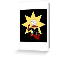 Captain Marvel Greeting Card