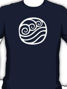 Waterbending Symbol (white) T-Shirt