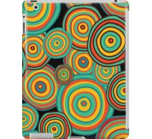 Pattern made of hand drawn doodle circles iPad Case/Skin