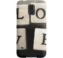 LOVE Wooden Letter Blocks Art  Samsung Galaxy Case/Skin
