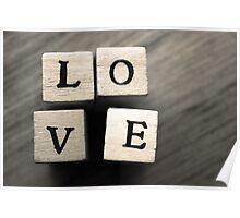 LOVE Wooden Letter Blocks Art  Poster