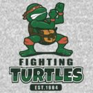 Fighting Turtles - Michelangelo by Adho1982
