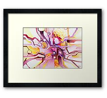 Sunberry - Abstract Watercolor Painting Framed Print