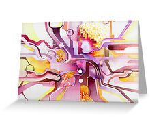 Sunberry - Abstract Watercolor Painting Greeting Card