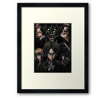 Jaeger Bombs Attack on Titan Epic Painting Framed Print