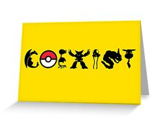 COEXIST 151 (for lighter tees 2.0) Greeting Card