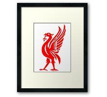 Liverpool Liver Bird Red  Framed Print